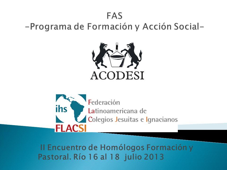 II Encuentro de Homólogos Formación y Pastoral. Río 16 al 18 julio 2013