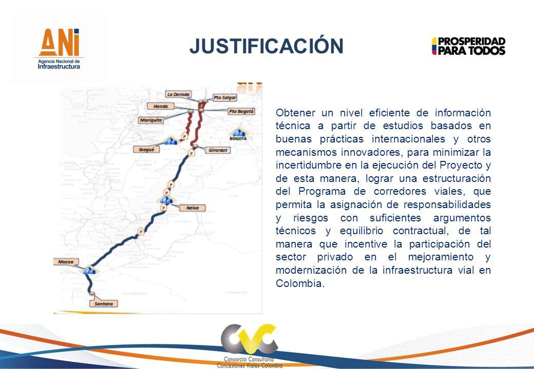 JUSTIFICACIÓN Obtener un nivel eficiente de información técnica a partir de estudios basados en buenas prácticas internacionales y otros mecanismos in