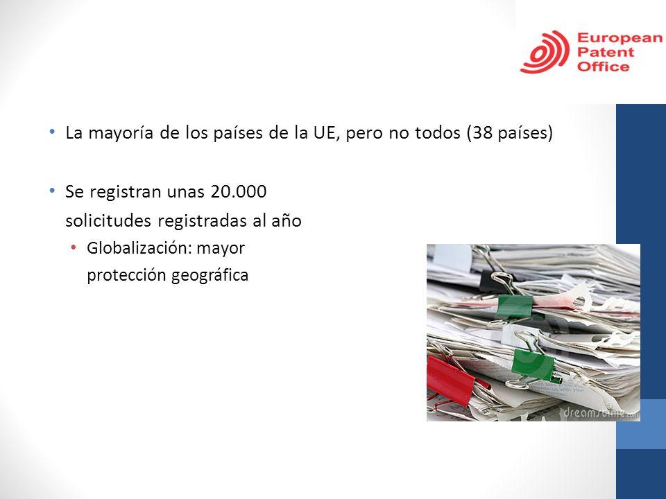 La mayoría de los países de la UE, pero no todos (38 países) Se registran unas 20.000 solicitudes registradas al año Globalización: mayor protección g