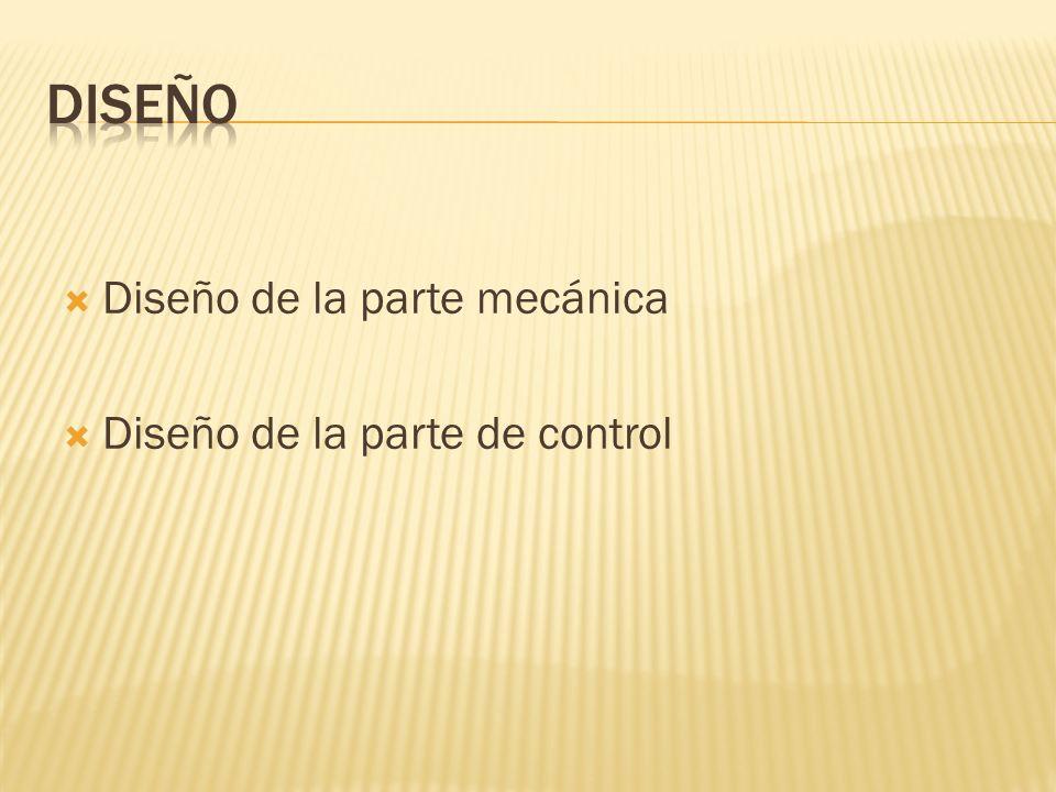 Diseño de la parte mecánica Diseño de la parte de control
