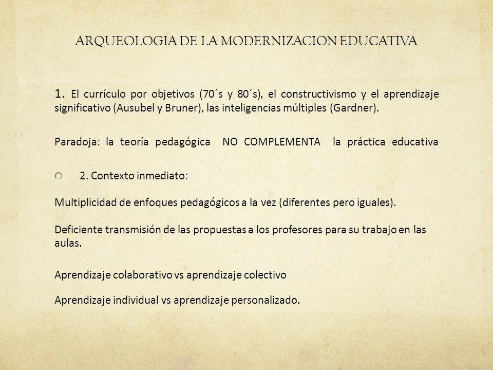 ARQUEOLOGIA DE LA MODERNIZACION EDUCATIVA 1.