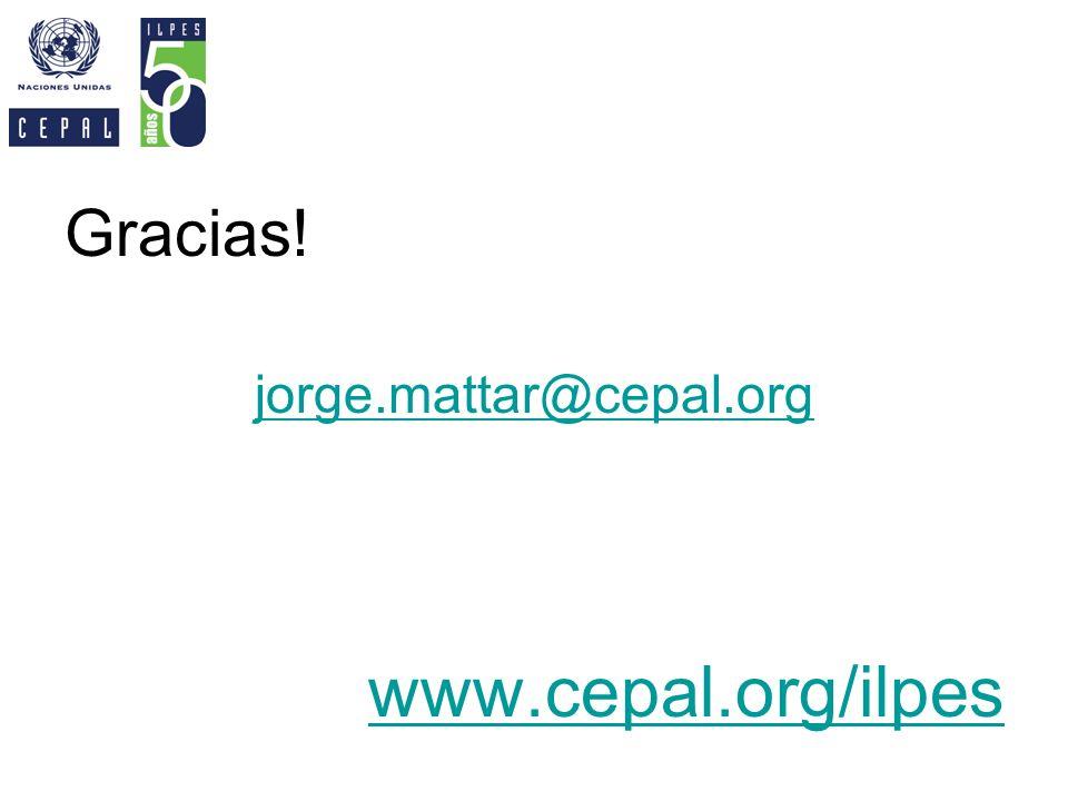 Gracias! jorge.mattar@cepal.org www.cepal.org/ilpes