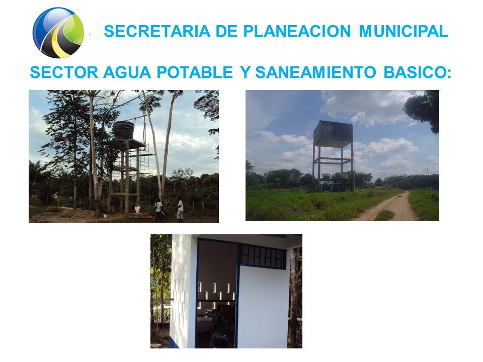 SECRETARIA DE PLANEACION MUNICIPAL SECTOR AGUA POTABLE Y SANEAMIENTO BASICO: