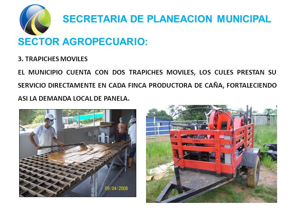 SECRETARIA DE PLANEACION MUNICIPAL SECTOR AGROPECUARIO: 3.