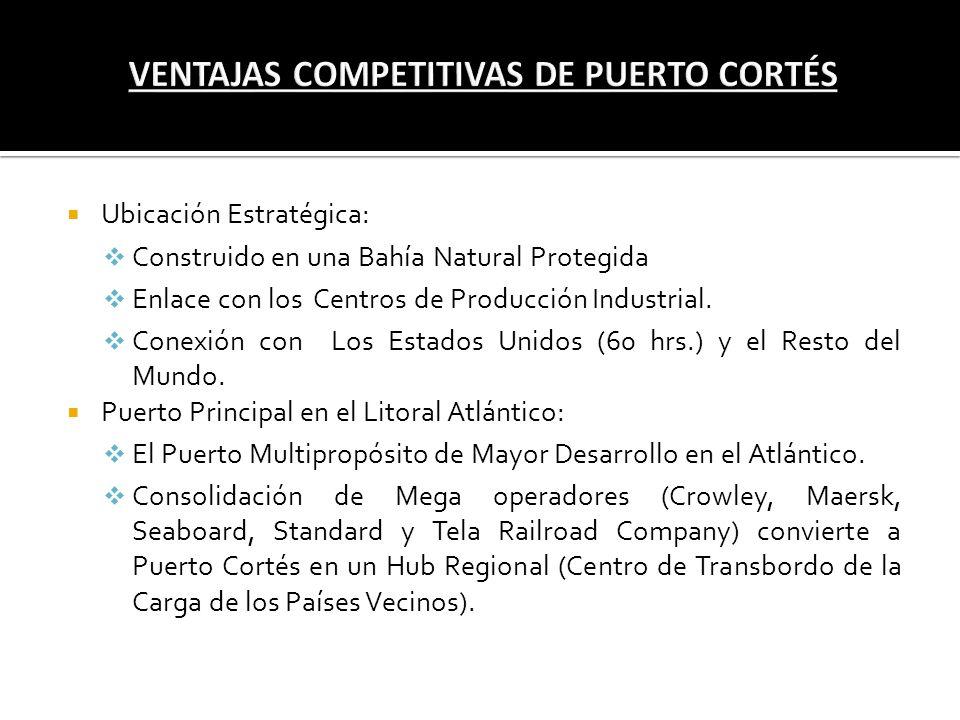 Ubicación Estratégica: Construido en una Bahía Natural Protegida Enlace con los Centros de Producción Industrial. Conexión con Los Estados Unidos (60
