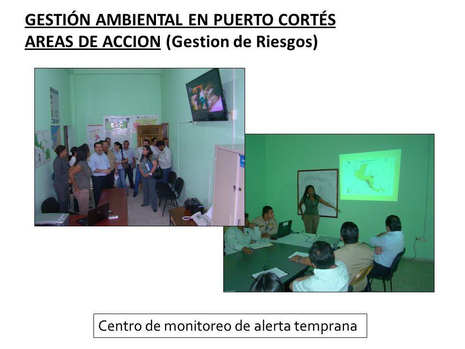 GESTIÓN AMBIENTAL EN PUERTO CORTÉS AREAS DE ACCION (Gestion de Riesgos) Centro de monitoreo de alerta temprana