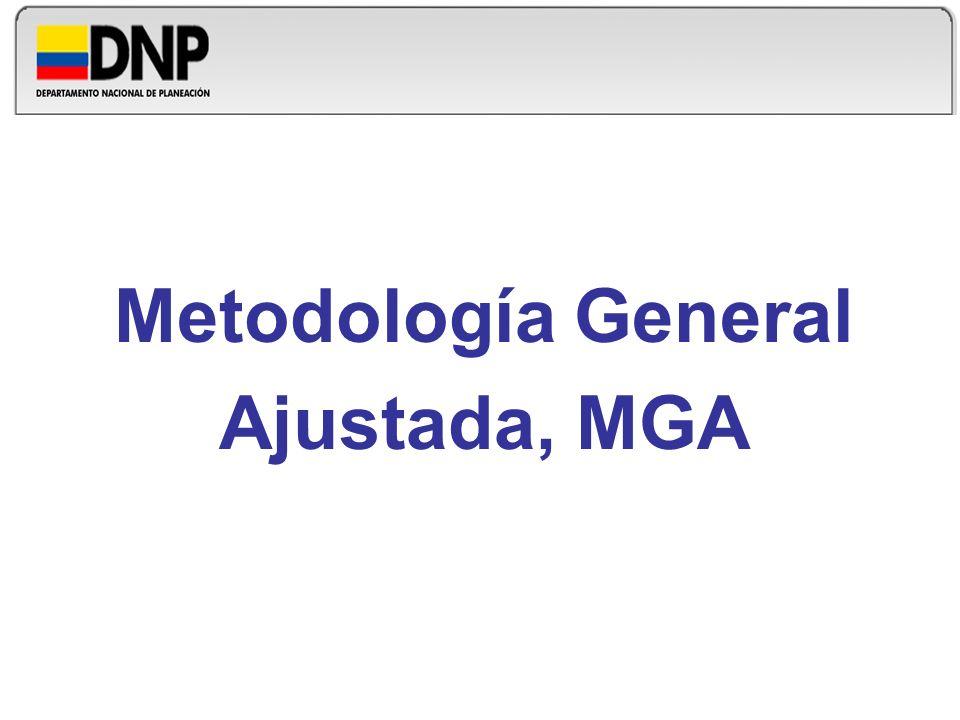 Metodología General Ajustada, MGA