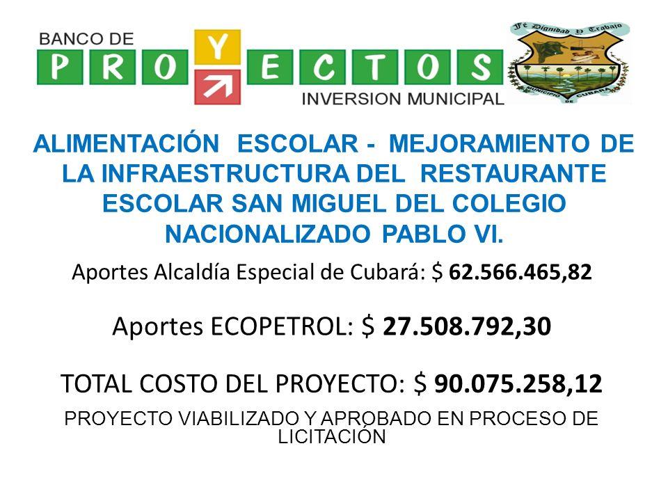 CONSTRUCCIÓN DE ALCANTARILLAS PARA LAS VEREDAS CAÑAGUATA, PUERTO NUEVO, ROYOTA Y BRISAS DEL ARAUCA DEL MUNICIPIO DE CUBARÁ, DEPARTAMENTO DE BOYACÁ.