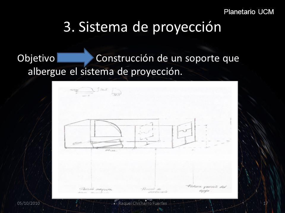 3.Sistema de proyección Objetivo Construcción de un soporte que albergue el sistema de proyección.