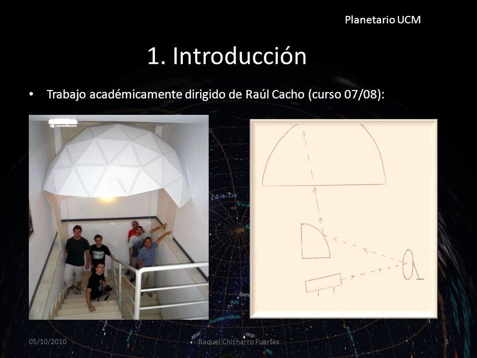 Objetivos del TAD Diseño y construcción del sistema de proyección para el Planetario UCM.