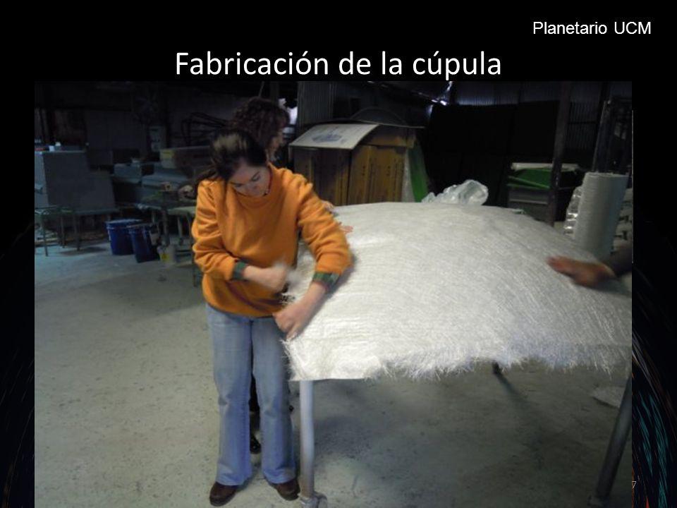 Fabricación de la cúpula Molde en escayola encargado.