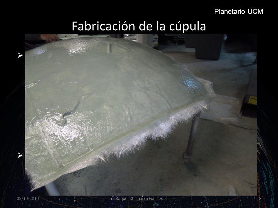 Fabricación de la cúpula Tras la primera mano ponemos otro trozo de malla y volvemos a aplicar la mezcla.