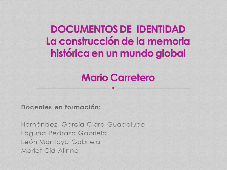 Docentes en formación: Hernández García Clara Guadalupe Laguna Pedraza Gabriela León Montoya Gabriela Morlet Cid Alinne
