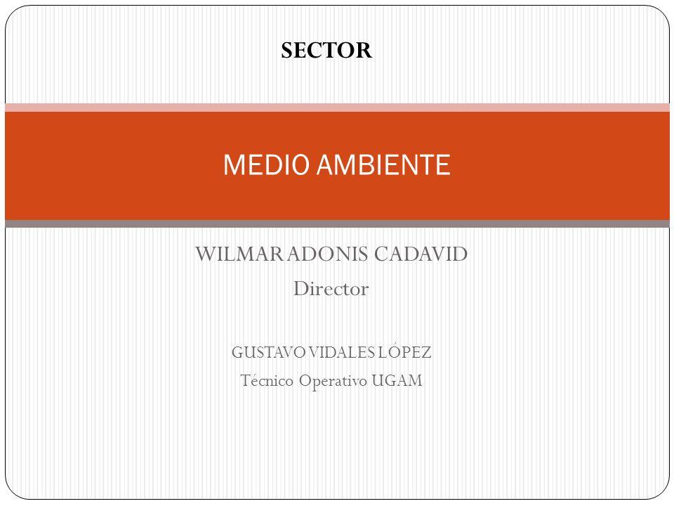 WILMAR ADONIS CADAVID Director GUSTAVO VIDALES LÓPEZ Técnico Operativo UGAM MEDIO AMBIENTE SECTOR