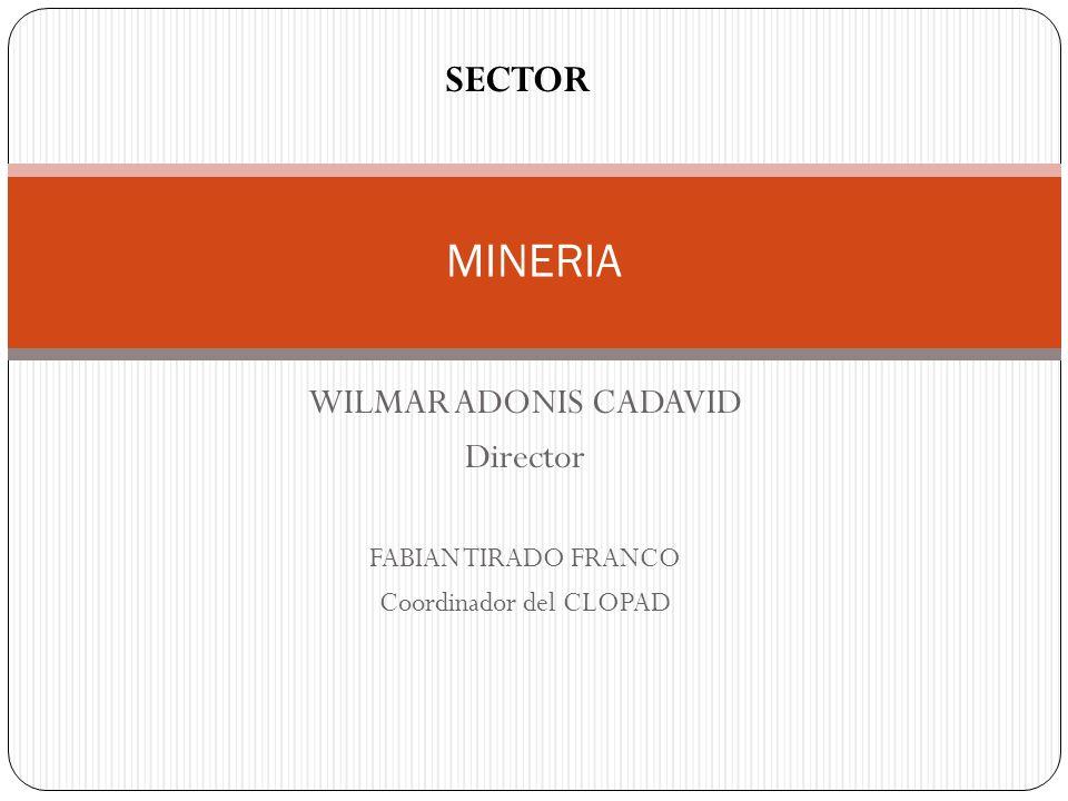 WILMAR ADONIS CADAVID Director FABIAN TIRADO FRANCO Coordinador del CLOPAD MINERIA SECTOR