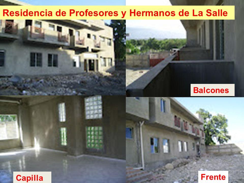Residencia de Profesores y Hermanos de La Salle Capilla Balcones Frente