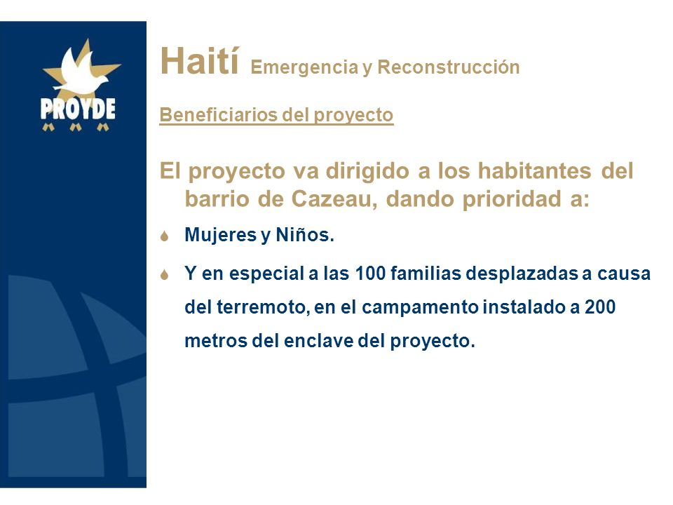 Haití Emergencia y Reconstrucción Localización
