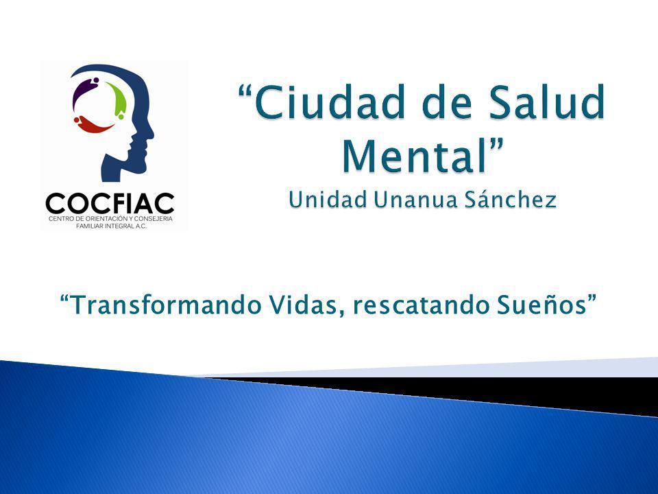 Ciudad de Salud Mental Unidad Unanua Sánchez Construcción de un complejo de 5 edificios para proporcionar atención especializada en las áreas: Médica, Comunitaria, Pedagógica, Legal e Investigación.