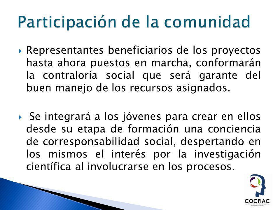 Representantes beneficiarios de los proyectos hasta ahora puestos en marcha, conformarán la contraloría social que será garante del buen manejo de los