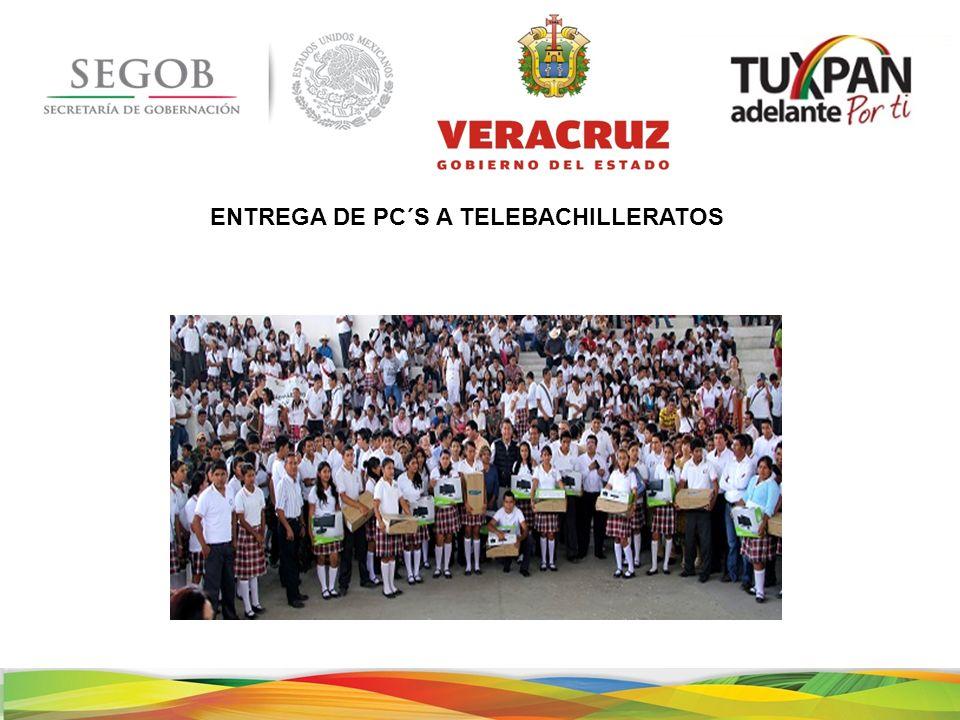 ENTREGA DE PC´S A TELEBACHILLERATOS