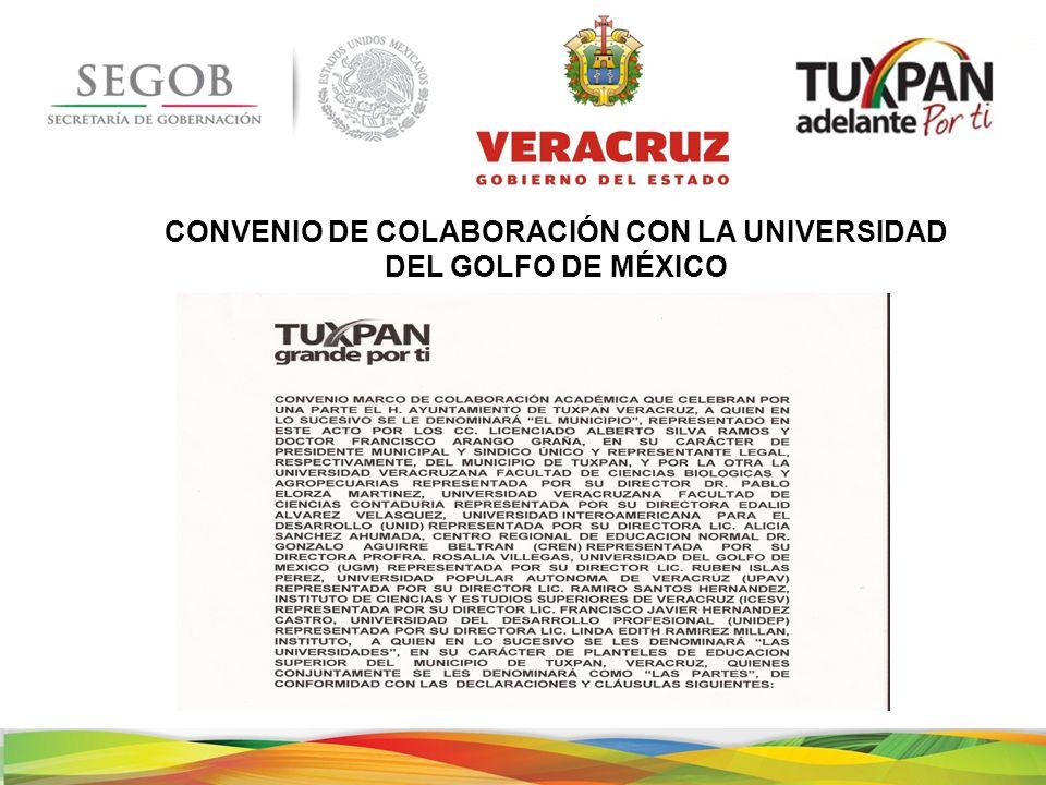 CONVENIO DE COLABORACIÓN CON LA UNIVERSIDAD DEL GOLFO DE MÉXICO