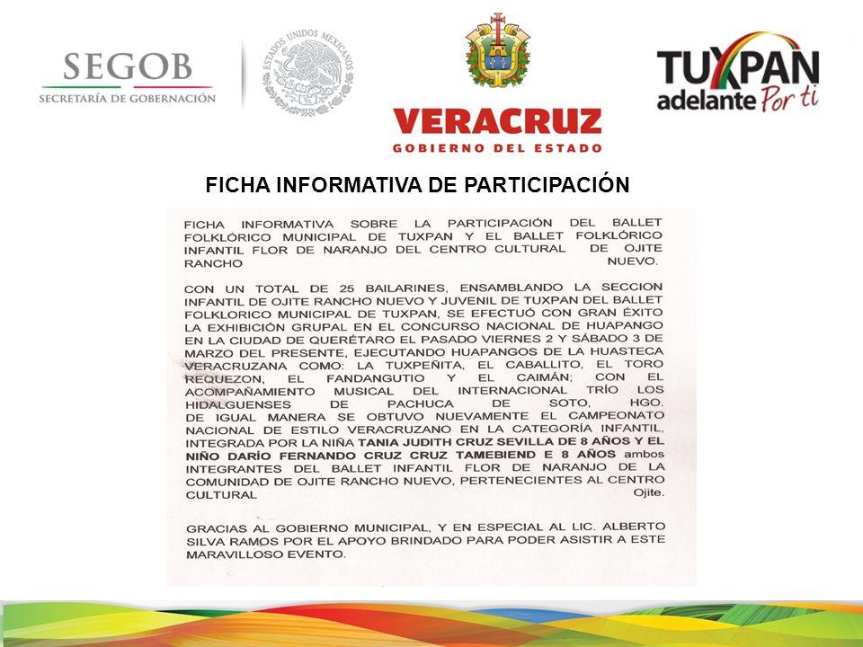 FICHA INFORMATIVA DE PARTICIPACIÓN