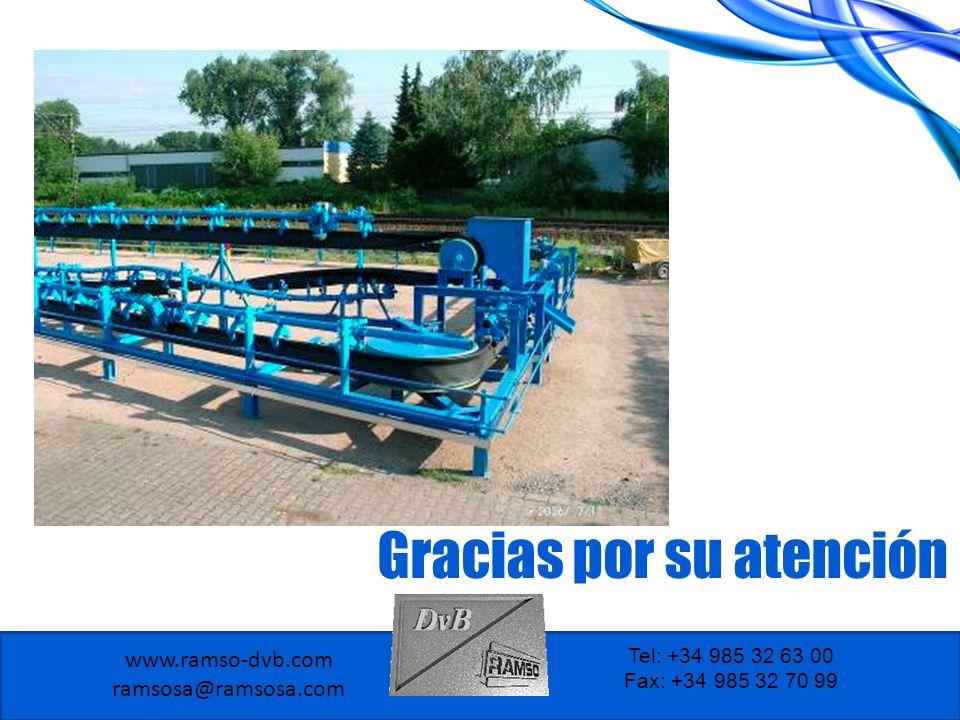 www.ramso-dvb.com ramsosa@ramsosa.com Tel: +34 985 32 63 00 Fax: +34 985 32 70 99 Gracias por su atención