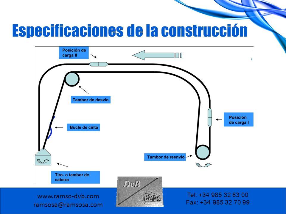 www.ramso-dvb.com ramsosa@ramsosa.com Tel: +34 985 32 63 00 Fax: +34 985 32 70 99 El sistema de cintas tubulares le ayuda por las siguientes características: Ecológico Todos los materiales están incluidos en el equipo utilizado.