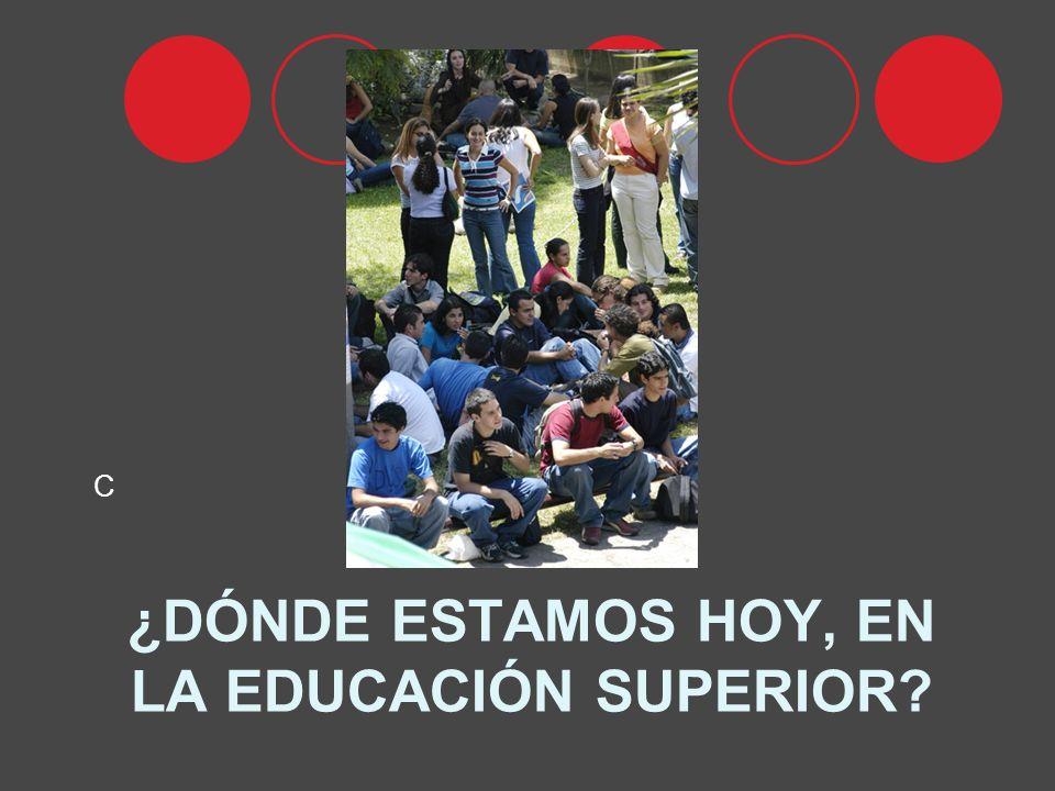 ¿DÓNDE ESTAMOS HOY, EN LA EDUCACIÓN SUPERIOR C