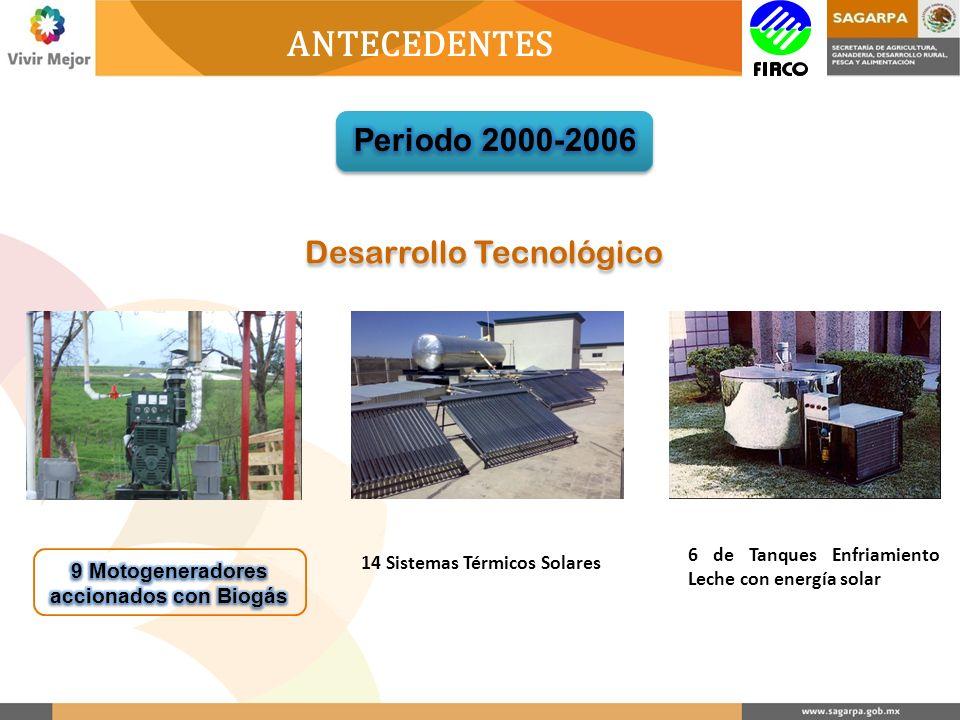 Desarrollo Tecnológico 14 Sistemas Térmicos Solares 6 de Tanques Enfriamiento Leche con energía solar ANTECEDENTES