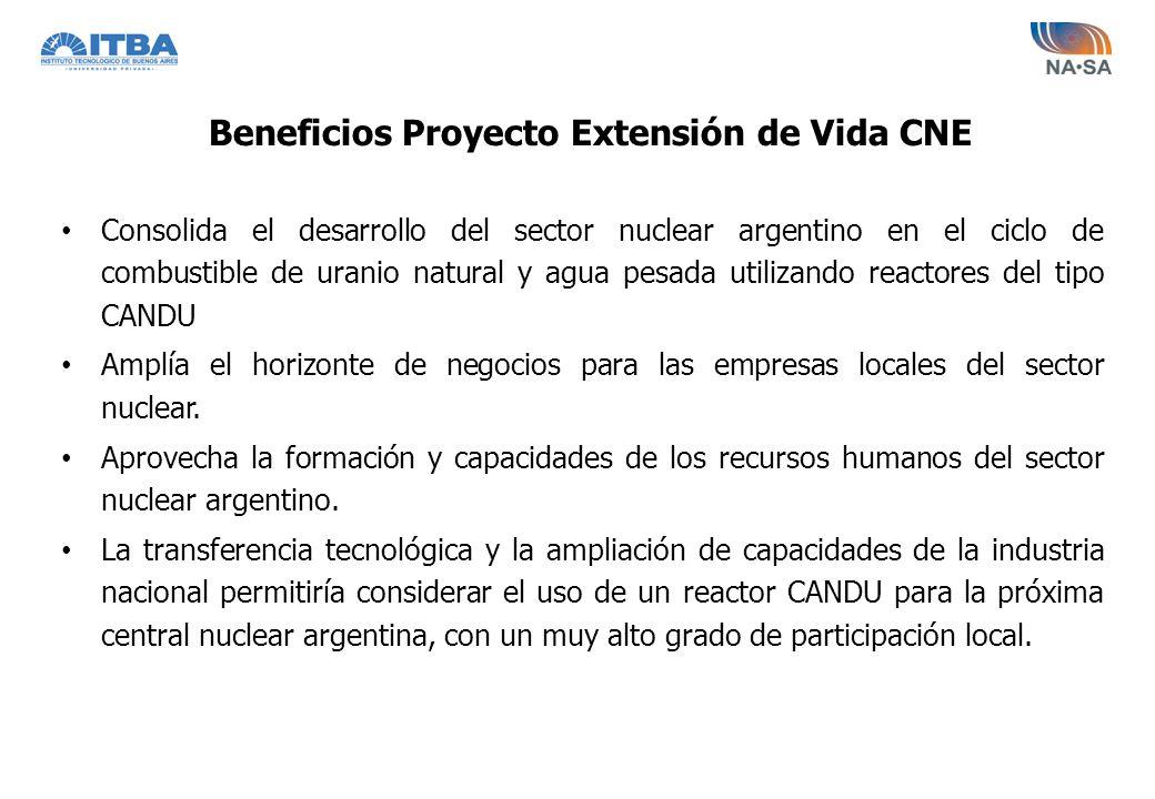 Consolida el desarrollo del sector nuclear argentino en el ciclo de combustible de uranio natural y agua pesada utilizando reactores del tipo CANDU Am
