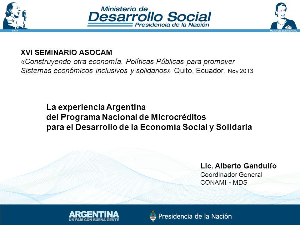 XVI SEMINARIO ASOCAM «Construyendo otra economía.