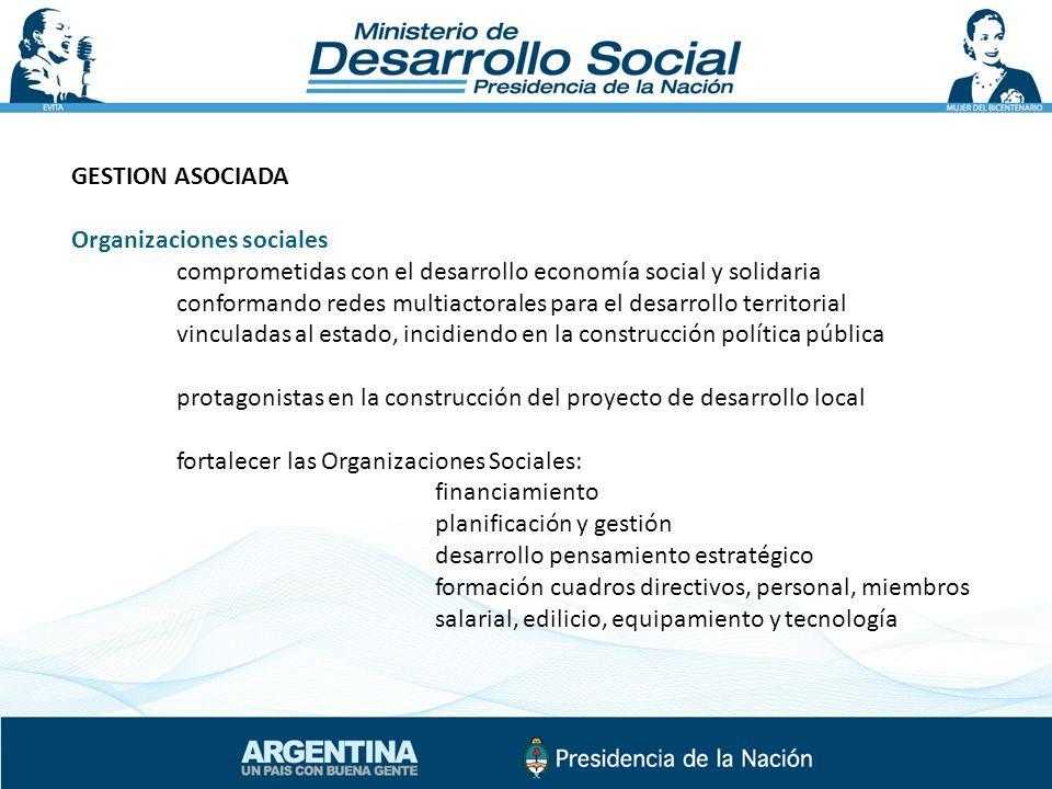 GESTION ASOCIADA Organizaciones sociales comprometidas con el desarrollo economía social y solidaria conformando redes multiactorales para el desarrol