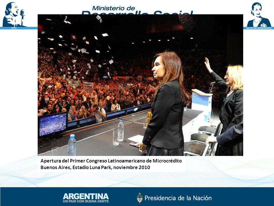 Apertura del Primer Congreso Latinoamericano de Microcrédito Buenos Aires, Estadio Luna Park, noviembre 2010