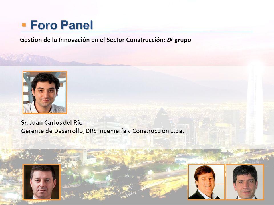Foro Panel Foro Panel Sr. Juan Carlos del Río Gerente de Desarrollo, DRS Ingeniería y Construcción Ltda. Gestión de la Innovación en el Sector Constru