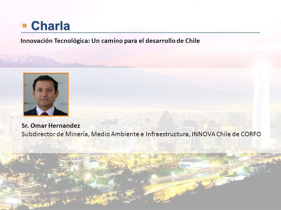 Charla Charla Sr. Omar Hernandez Subdirector de Minería, Medio Ambiente e Infraestructura, INNOVA Chile de CORFO Innovación Tecnológica: Un camino par