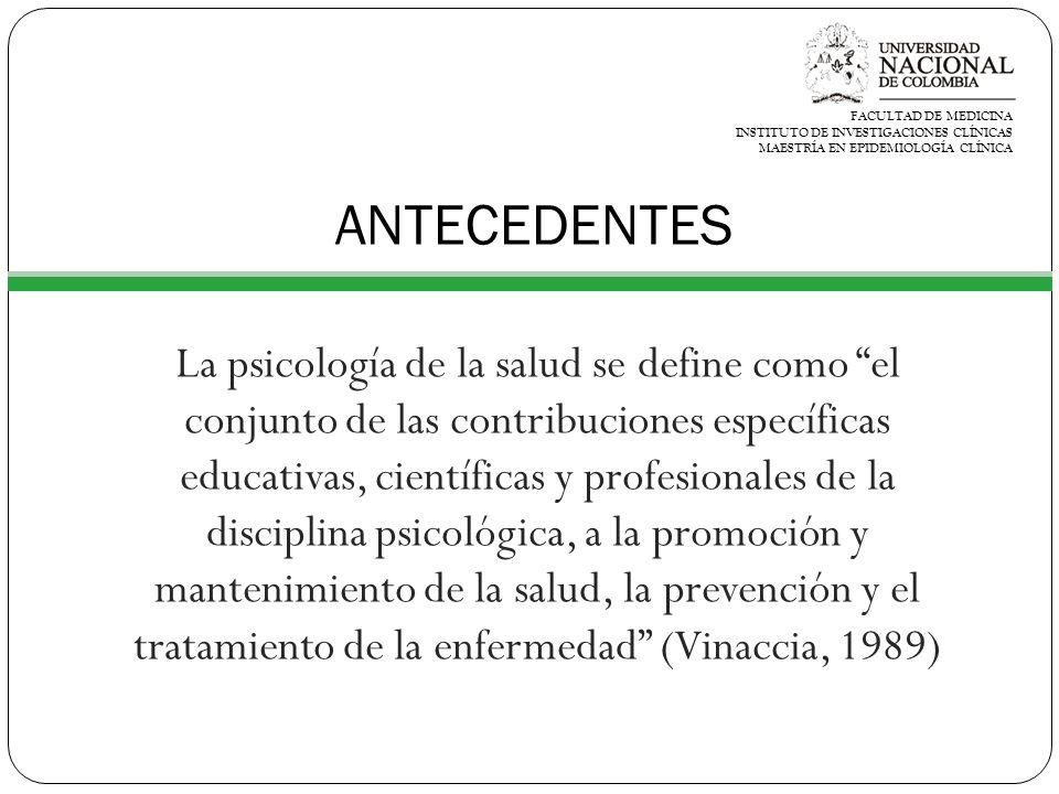FACULTAD DE MEDICINA INSTITUTO DE INVESTIGACIONES CLÍNICAS MAESTRÍA EN EPIDEMIOLOGÍA CLÍNICA