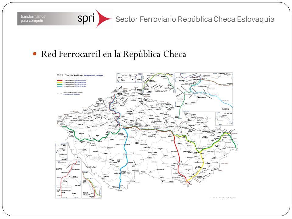 Sector Ferroviario República Checa Eslovaquia Red Ferrocarril en la República Checa