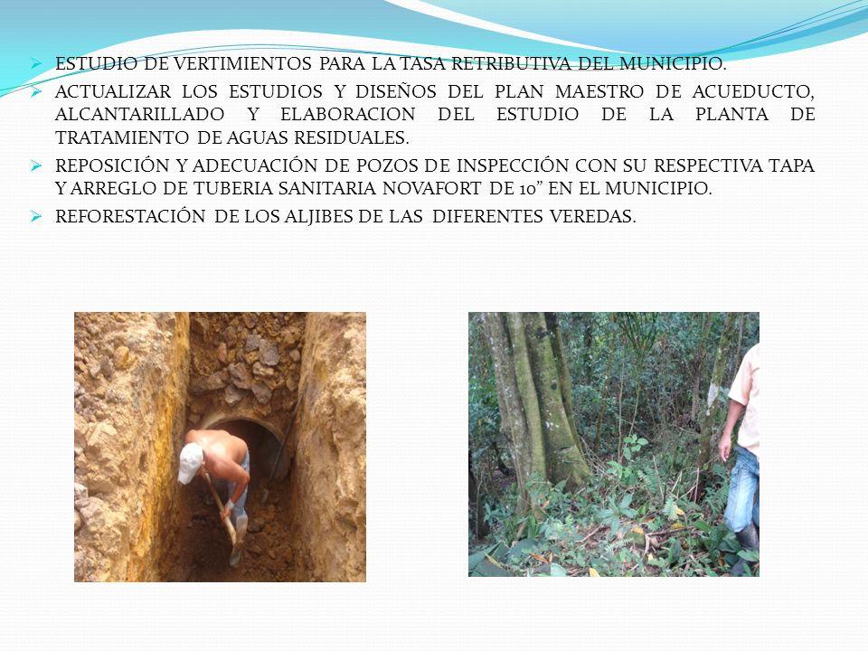ESTUDIO DE VERTIMIENTOS PARA LA TASA RETRIBUTIVA DEL MUNICIPIO.