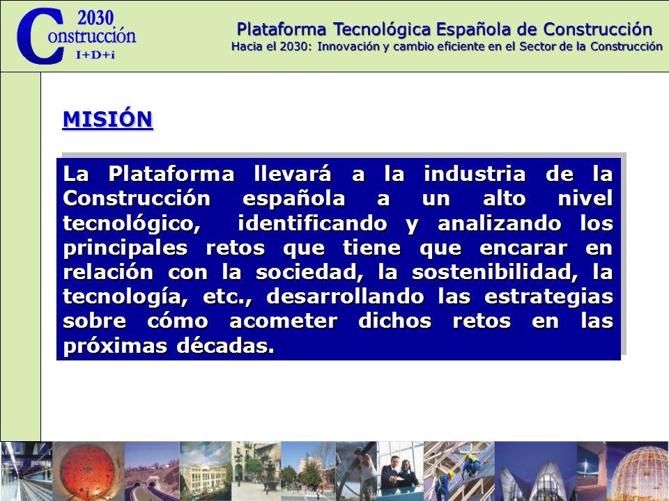 Plataforma Tecnológica Española de Construcción Hacia el 2030: Innovación y cambio eficiente en el Sector de la Construcción Coordinación Plataforma Europea La representación oficial de la PTEC en la ECTP se realiza por la participación de los representantes de la PTEC en el grupo de Plataformas Nacionales de la ECTP, lo que facilita el intercambio de experiencias y orientaciones con las diversas plataformas de otros países.