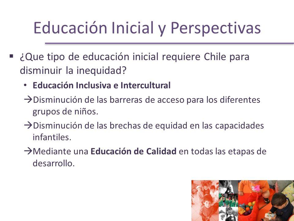 Educación Inicial y Perspectivas ¿Que tipo de educación inicial requiere Chile para disminuir la inequidad.