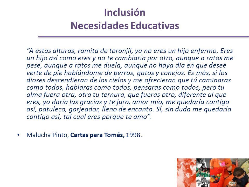 Inclusión Necesidades Educativas A estas alturas, ramita de toronjil, ya no eres un hijo enfermo.