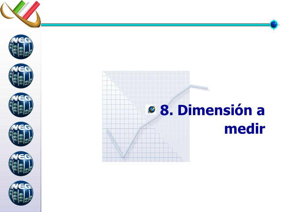 8. Dimensión a medir