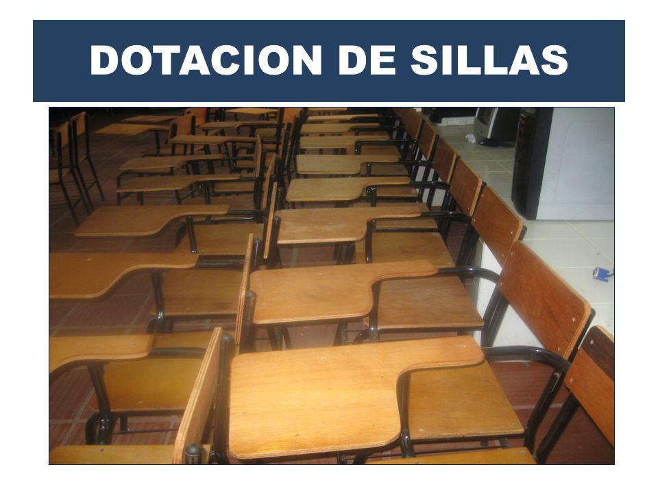 DOTACION DE SILLAS