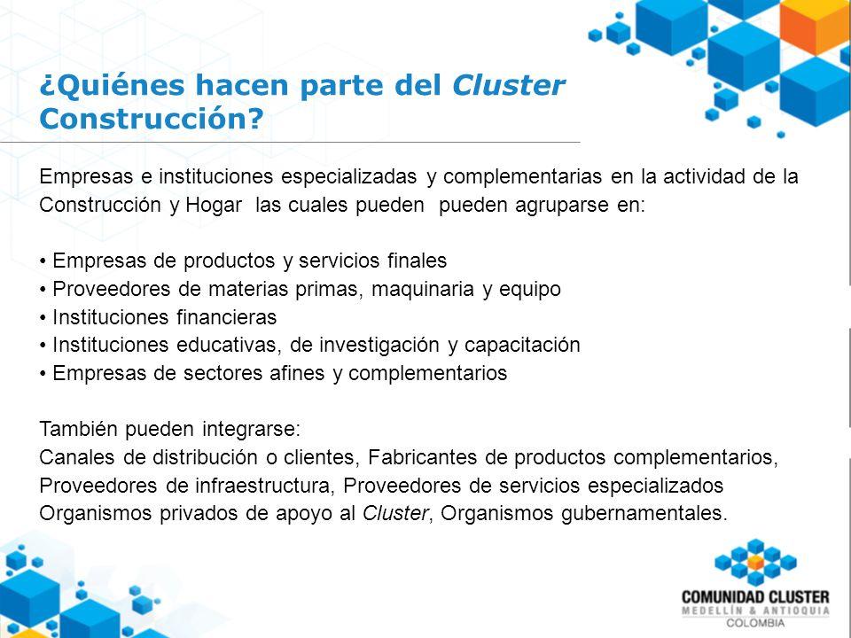 ¿Quiénes hacen parte del Cluster Construcción.