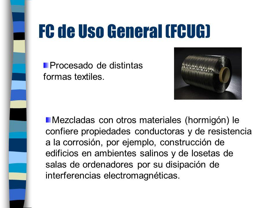 FC de Uso General (FCUG) Procesado de distintas formas textiles.