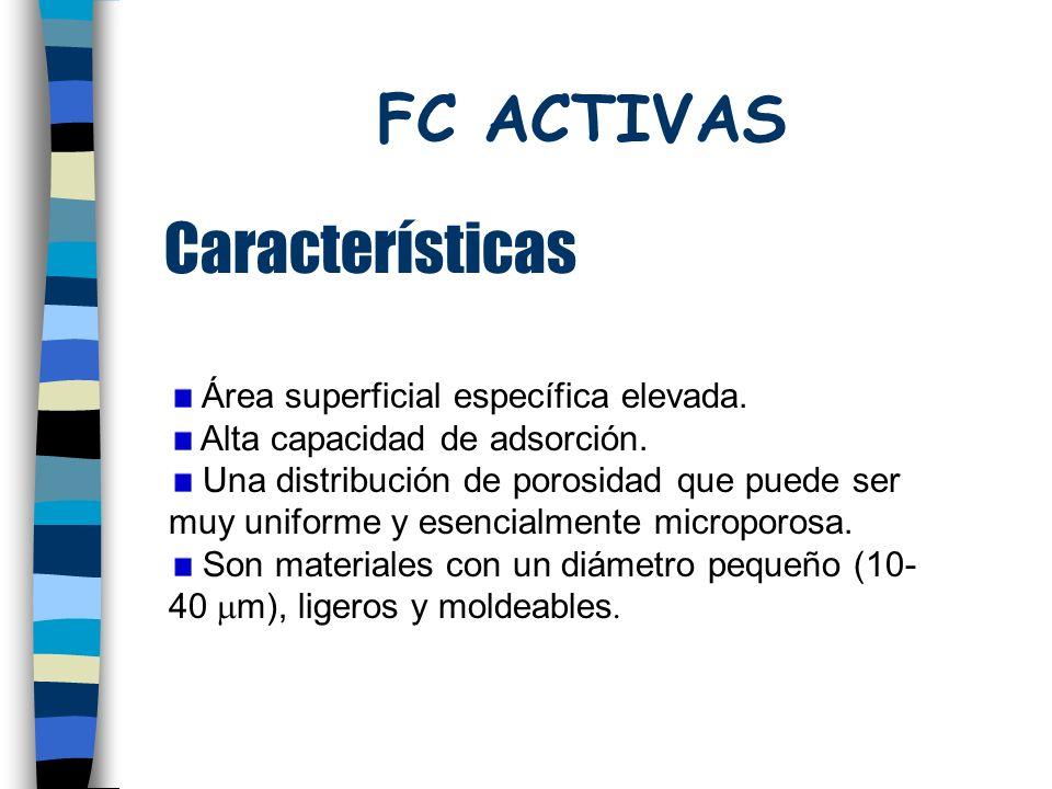 FC ACTIVAS Características Área superficial específica elevada.