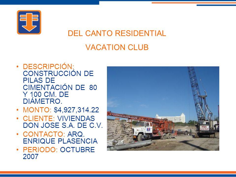 DESCRIPCIÓN: CONSTRUCCIÓN DE PILAS DE CIMENTACIÓN DE 80 Y 100 CM.
