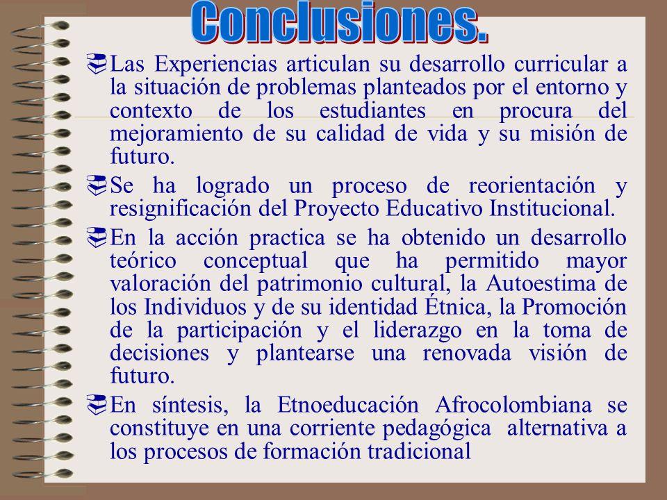 FORMULACIÓN PROPUESTA DE MAESTRÍA EN ETNOEDUCACIÓN. ELEMENTOS QUE LA JUSTIFICAN. Los desarrollos etnoeducativos, tanto afrocolombianos como indígenas,