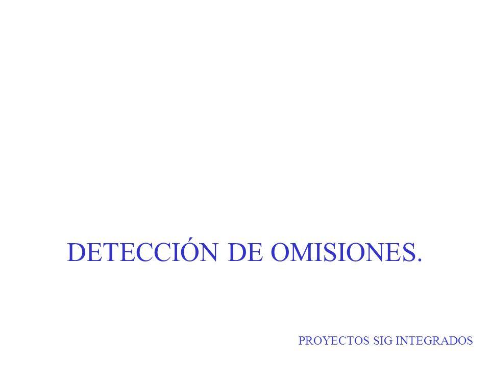 PROYECTOS SIG INTEGRADOS DETECCIÓN DE OMISIONES.